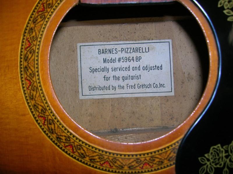 Barnes-Pizzarelli Acoustic (5964 BP) distrib by fred Gretsch _57_1610