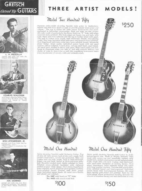 Origin Américan Orchestra Artist Model 100.150.250 de 1930' Cat_1910