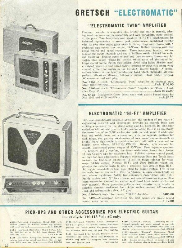 Gretsch HIFI electromatic 6166 Gretsc32