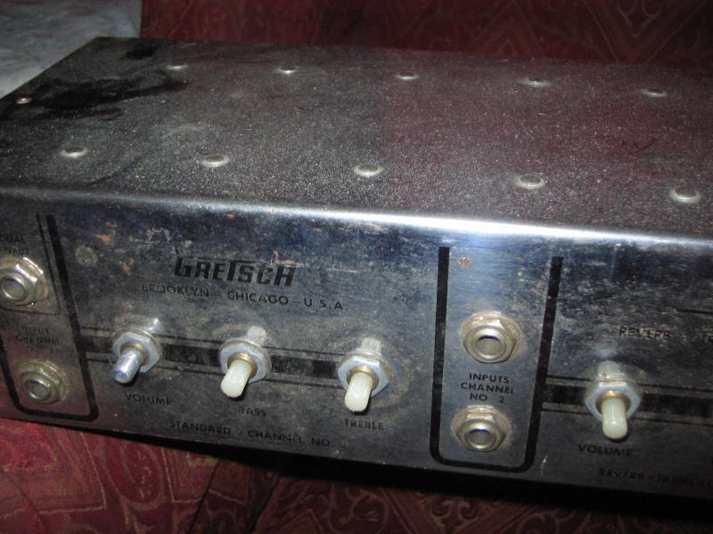 1963 Gretsch 6166 Fury Amplifier Kgrhqf11