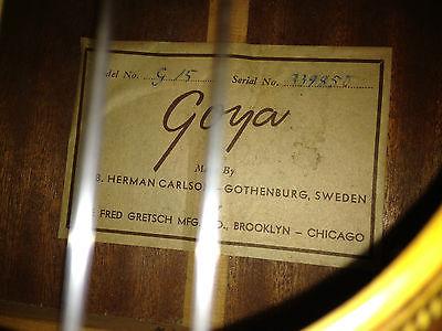 GOYA  G.20   G.10  G.15  (for Gretsch)  1956 Kgrhqn15