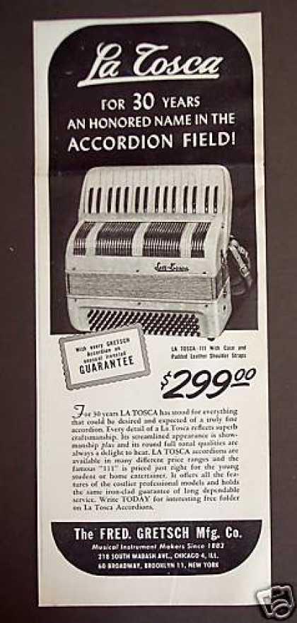 """Vintage Gretsch accordéon """"la tosca"""" Ktqz1210"""