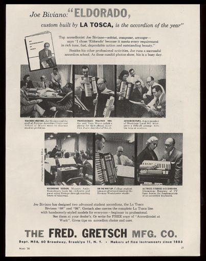 """Vintage Gretsch accordéon """"la tosca"""" T2ec1656"""