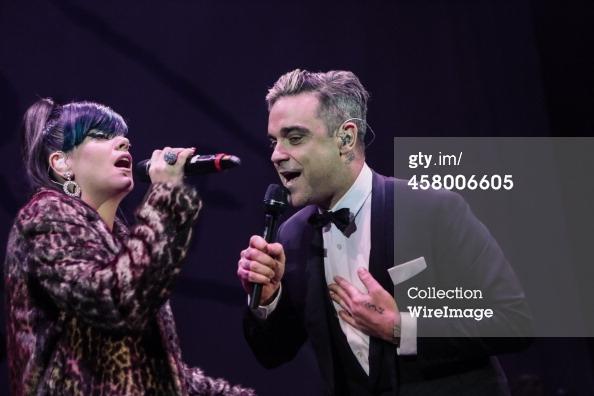 Robbie et Lily Allen concert de charité 19/12/2013 45800610