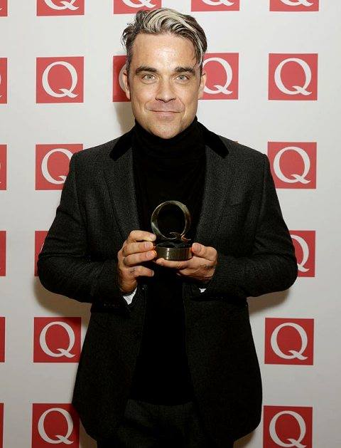 Robbie au Q Awards 21/10/13 Rob10