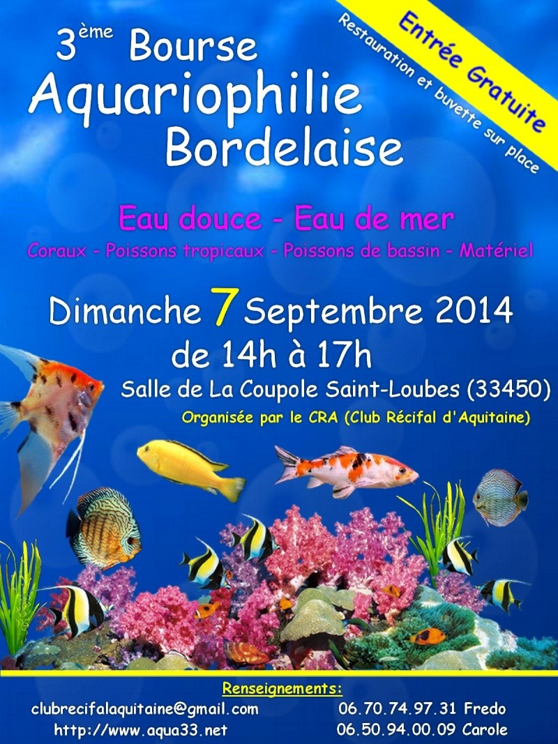 3 ème bourse aquariophilie bordelaise 07/09/2014 Affich11