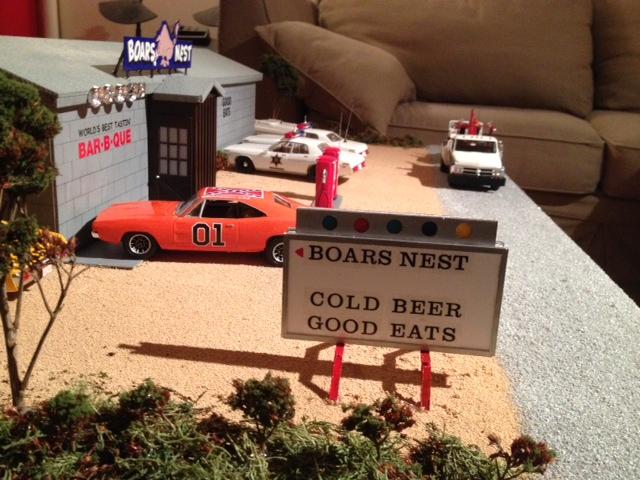 Mon Diorama du bar le Boar`s Nest de Hazzard County Photo_19