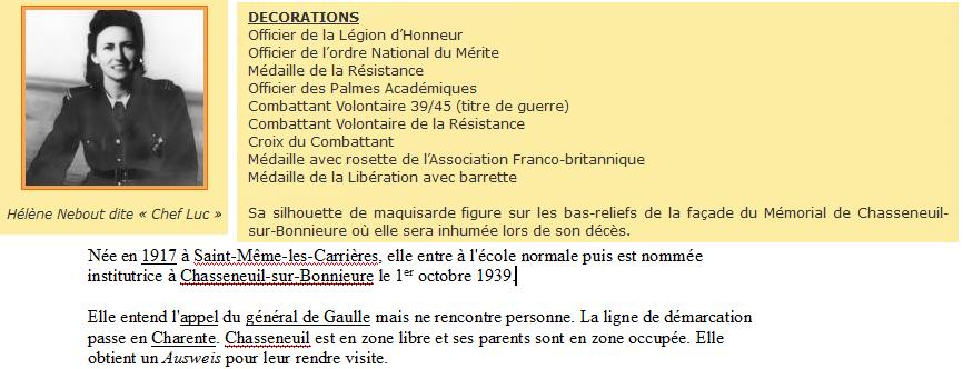 Sortie classe de 1ère S Lycée de Fouesnant à Chasseneuil sur Bonnieure (16) et Village martyr Oradour/Glane (87) 14_une10