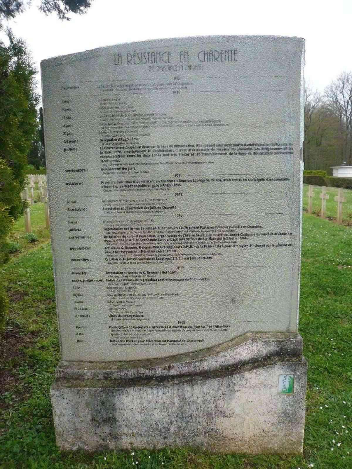 Sortie classe de 1ère S Lycée de Fouesnant à Chasseneuil sur Bonnieure (16) et Village martyr Oradour/Glane (87) 2111