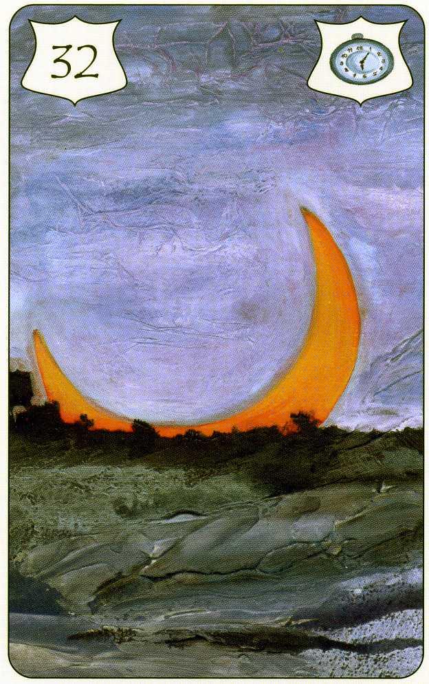La carte de la Lune du Lenormand Brida Lenorm12