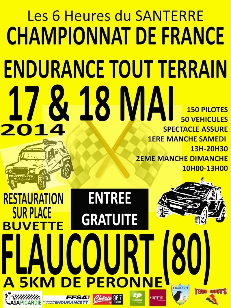 AFFICHE de l'Endurance de SANTERRE des 17 et 18 mai 2014 Affich10