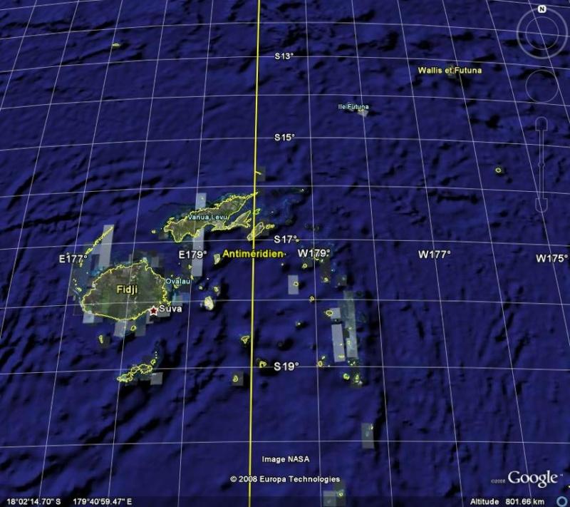 Méridien de Greenwich au travers de Google Earth Antime10