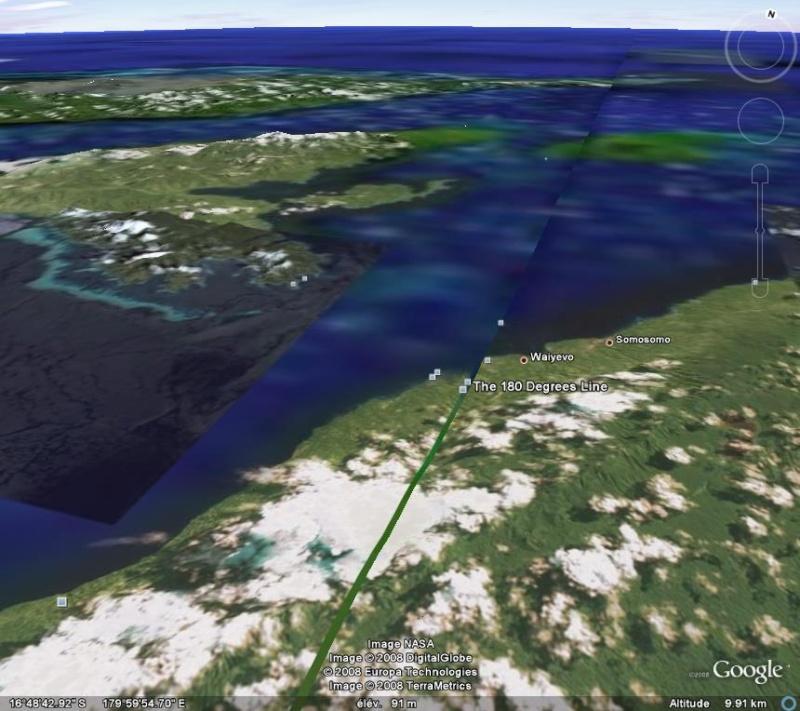 Méridien de Greenwich au travers de Google Earth Antime11
