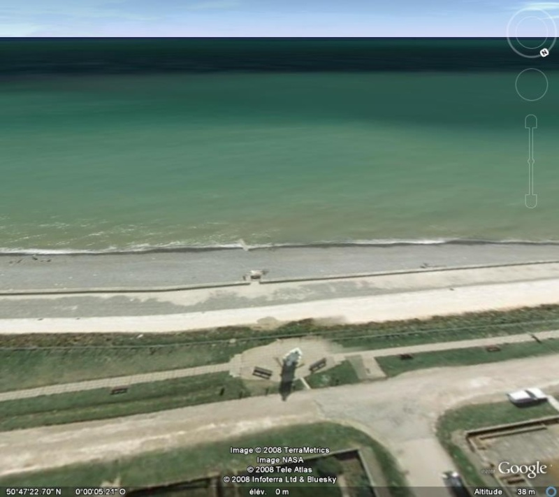 Méridien de Greenwich au travers de Google Earth Greenw10