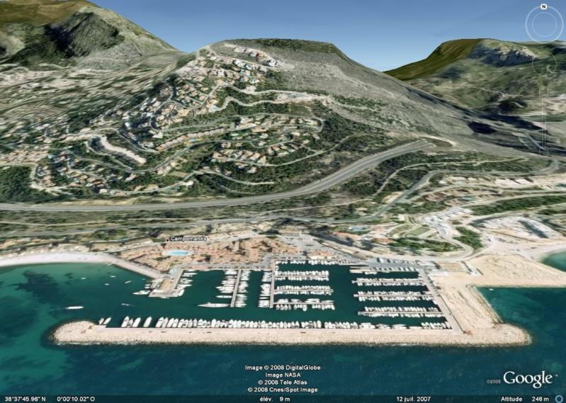 Méridien de Greenwich au travers de Google Earth Port_e10