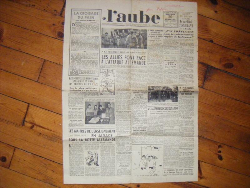 Journal L'AUBE du 20-12-1944 avec annotation sympathique ! Journa10