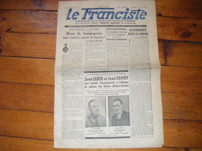 Journal L'AUBE du 20-12-1944 avec annotation sympathique ! Journa13