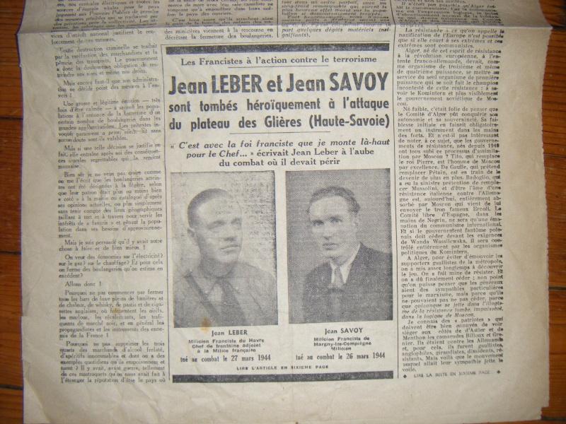 Journal L'AUBE du 20-12-1944 avec annotation sympathique ! Journa15