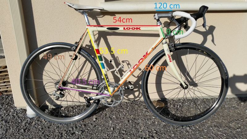 Vélo route Look 231 T53 + Roues 10337210