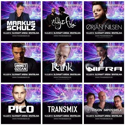 [ TRANSMISSION - 15 Mars 2014 - Slovnaft Arena - Bratislava - Slovaquie ] Lineup11