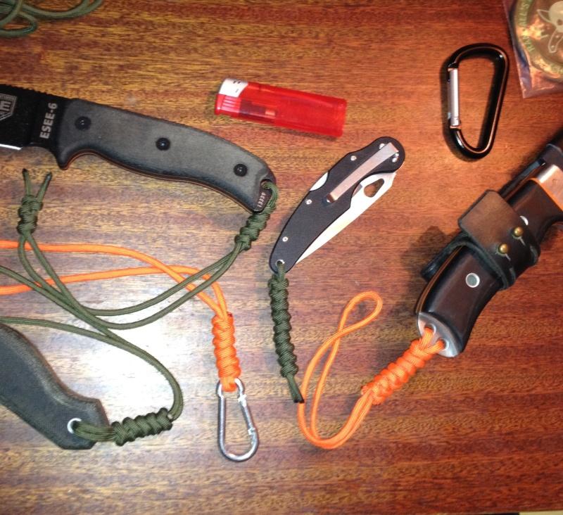 Tressage paracorde , cuir Photo372