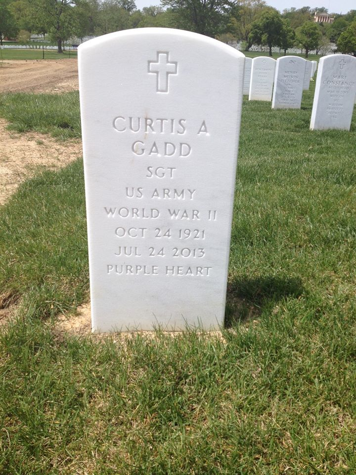 "Enterrement de Curtis Gadd ""D"" Co. 17th AB au cimetière d'Arlington 10170710"