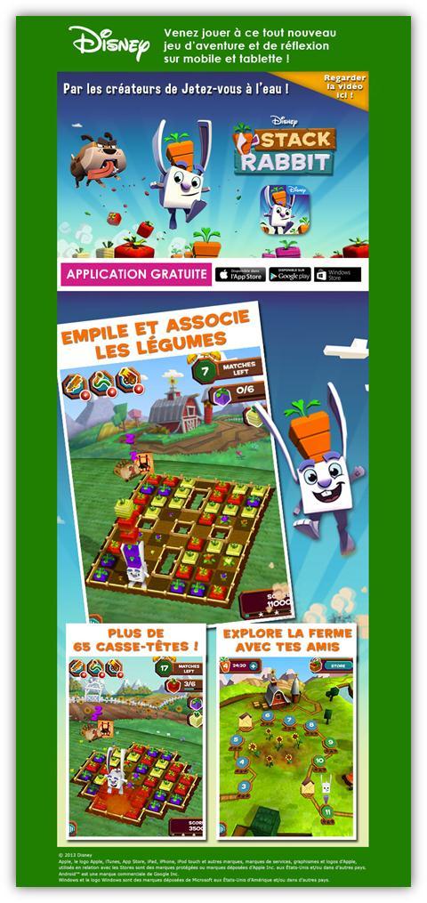 Disney Stack Rabbit , un jeu pour smartphone et tablette Image010
