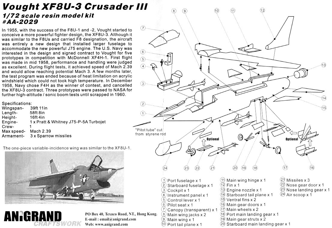 Vought XF8U-3 CRUSADER III V-401 [1/72 - Anigrand] Notice11