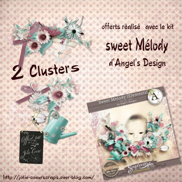 "QP et cluster Free... avec le kit ""Sweet Melody"" Pv_clu10"