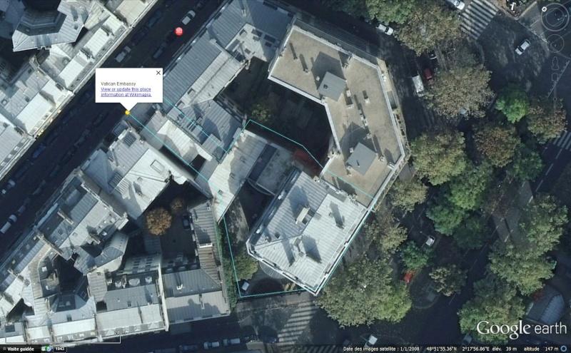 Les ambassades étrangères en France vues depuis Google Earth Sans_485