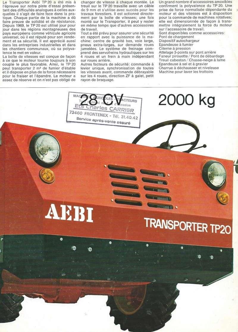 pasquali - ( Recherche ) Transporteur de montagne Aebi_t11