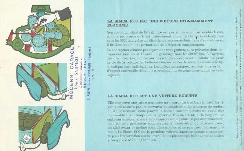Pub et catalogues  CHRYSLER ,MATRA , SIMCA et TALBOT Simca_17