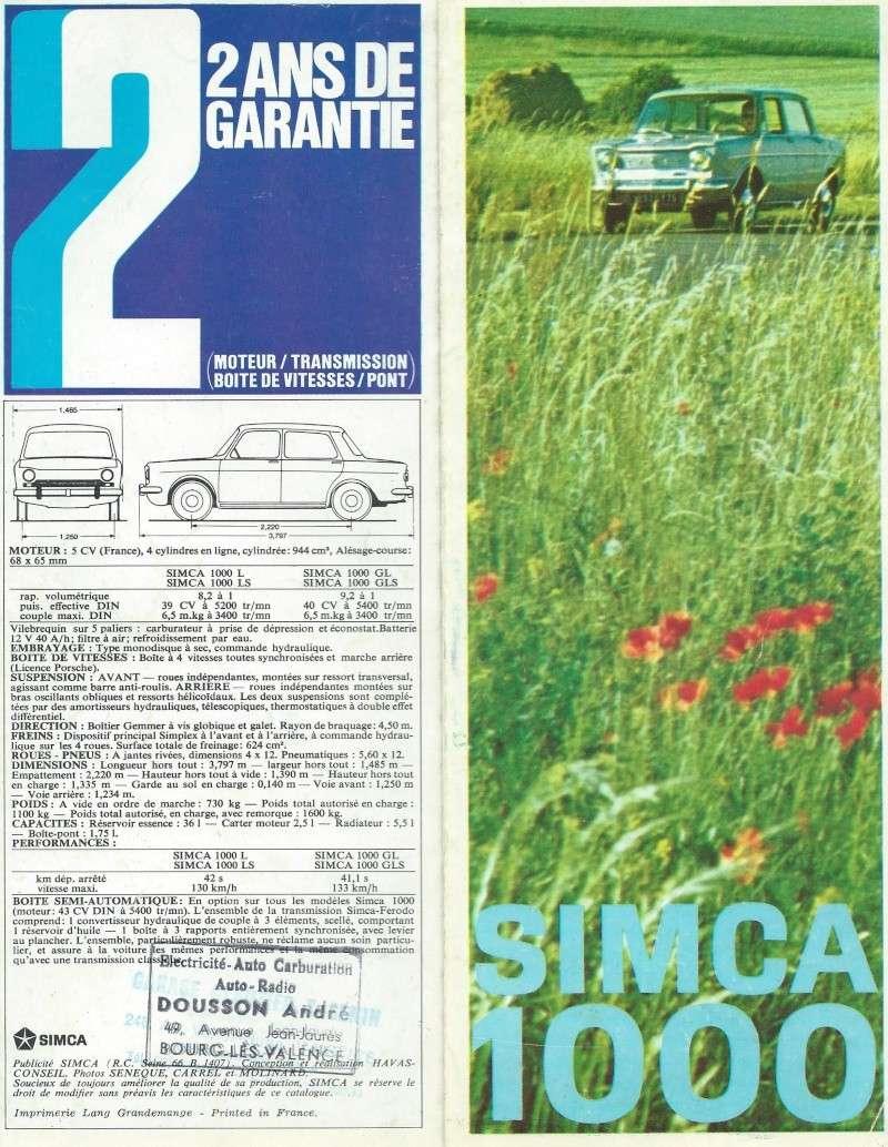 Pub et catalogues  CHRYSLER ,MATRA , SIMCA et TALBOT Simca_19
