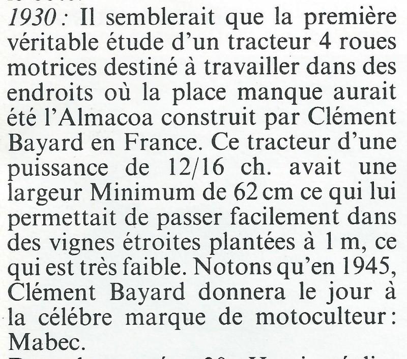 TRACTEUR - ALMACOA....le 1er tracteur 4x4 de petite taille Tracte21
