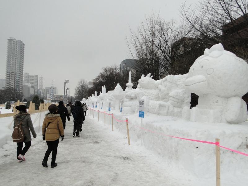 Le yuki matsuri à Sapporo Dsc06711