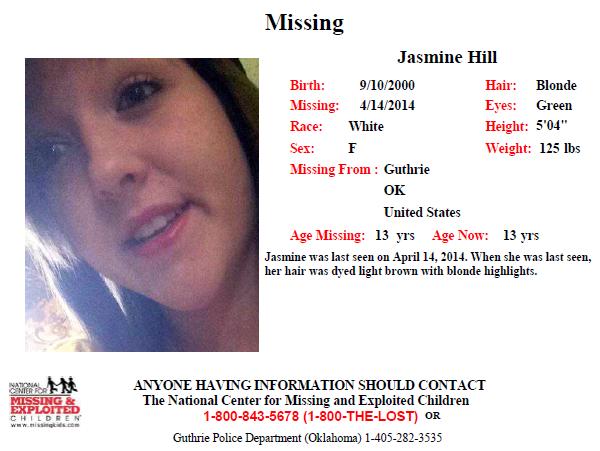 JASMINE HILL - 13 yo - Guthrie, OK Jasmin10