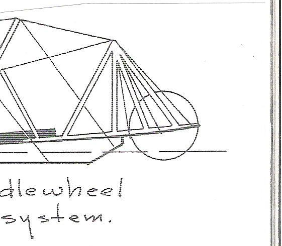 Construction d'un bateau à roue à aube : le Mississippi 1870 00112