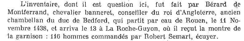 Inventaire de l'artillerie de la Roche-Guyon en 1438 Auteur10