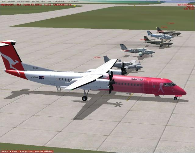 vol australie VFR Bundaberg à Brisbane Intls 2013-115
