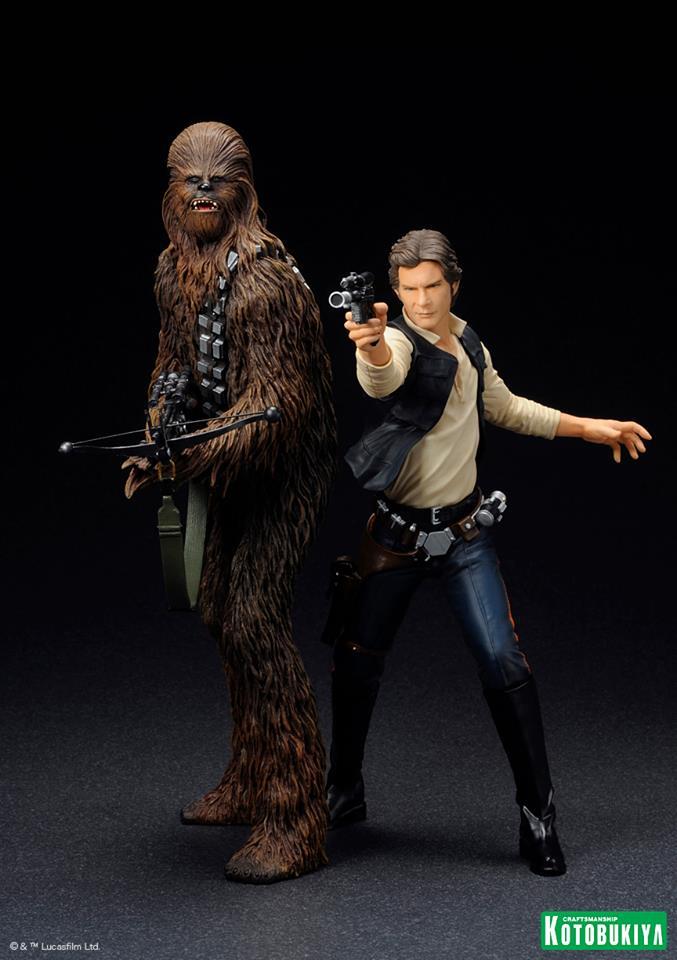 Kotobukiya - Han Solo & Chewbacca - ARTFX+ Statues 2 packs 10155110