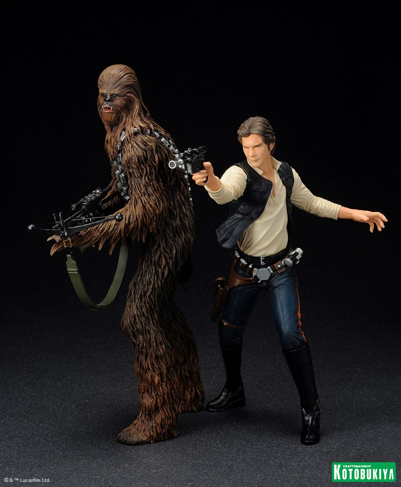 Kotobukiya - Han Solo & Chewbacca - ARTFX+ Statues 2 packs 10170810