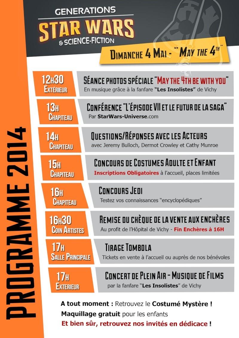 Générations Star Wars & SF - Cusset (03) 03-04 Mai 2014  - Page 4 Progra11