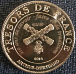 Arthus-Bertrand revers Trésors de France =  18 Ab12