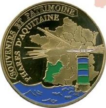 Souvenirs et Patrimoine 40mm  Aquita10