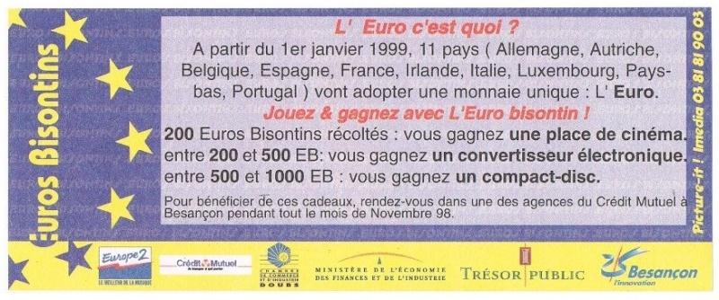 Premiers billets en Ecu/Euro Besanc11