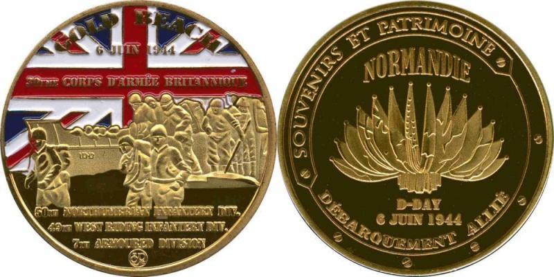 Souvenirs et Patrimoine 34mm  Gold_b10