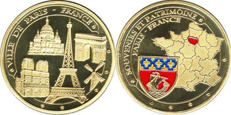 Souvenirs et Patrimoine 34mm =  4 Idf10