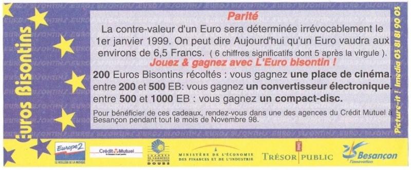 Premiers billets en Ecu/Euro Revers10