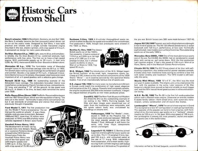 Shell - Historic Cars Shv10
