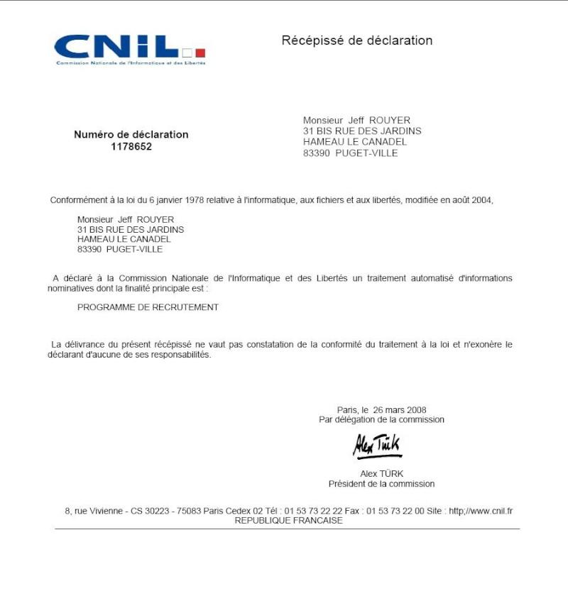 DECLARATION CNIL N°1178652 Cnil10